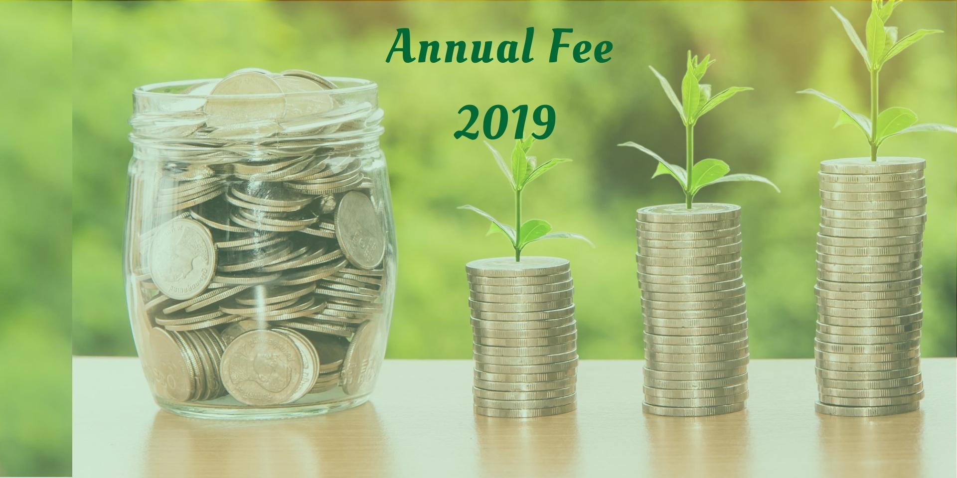 Annual Fee 2019